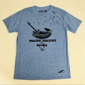 Imagine Dragons Hard Rock Cafe Tampa T-Shirt L NEW